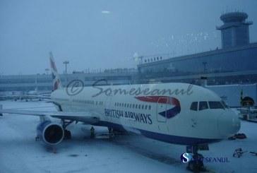 Traficul auto si aerian din Anglia perturbate de ninsori