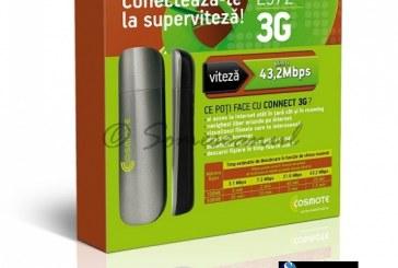 Cosmote România lansează un nou modem de 43,2 Mbps şi extinde planurile tarifare de date