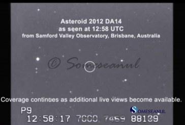 LIVE VIDEO Asteroidul DA14 trece foarte aproape de Pamant