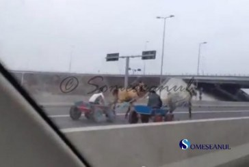 VIDEO – Cursă de doi cai putere pe Autostrada Soarelui