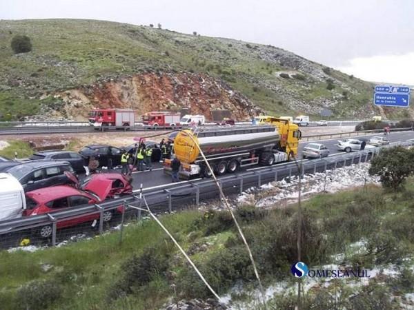 accident in lant spania