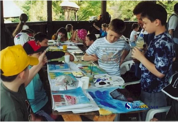 copii pictura parcul etnografic romulus vuia