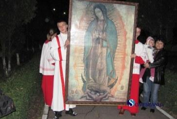 Icoana pelerina a Sfintei Fecioare de Guadalupe ajunge la Bistrita
