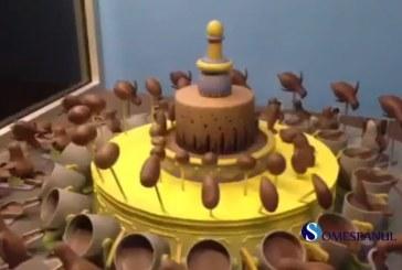Video | Iluzie optică incredibilă cu… ciocolată!