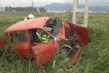 Fără permis de conducere a provocat un accident