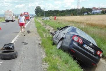 O șoferiță din Bistrița a provocat un un grav accident în Sibiu. Un diplomat român și familia lui au fost victime