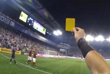 Cum se vede un meci de fotbal prin ochii unui arbitru – VIDEO