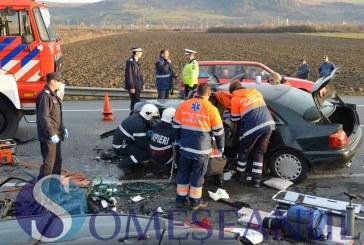 EXCLUSIV. Patru autoturisme implicate intr-un accident grav pe centura Valcele – Apahida