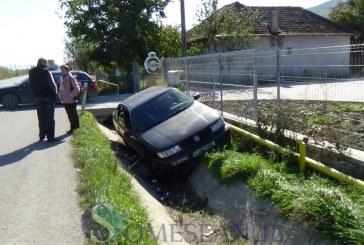 Accident la ieșire din Dej. O mașină a ajuns în șanț FOTO/VIDEO