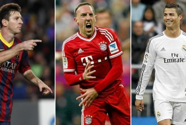 Ronaldo, Messi şi Ribery sunt finaliştii pentru Balonul de Aur