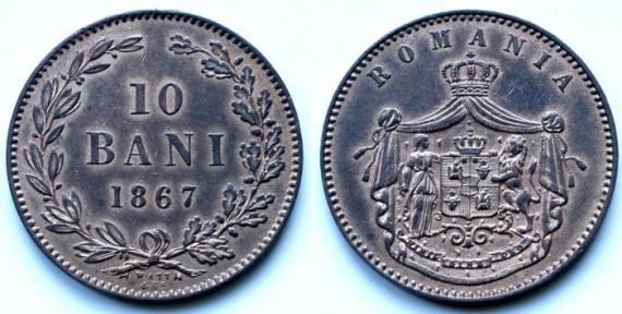 10 bani romanesti 1867