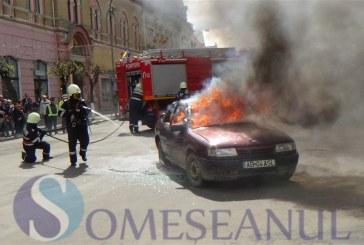 Accidente, salvări de victime și mașină în flăcări la Dej – FOTO/VIDEO