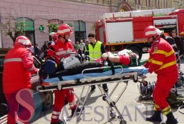 A rămas fără un picior după un accident rutier la Silivașu de Câmpie