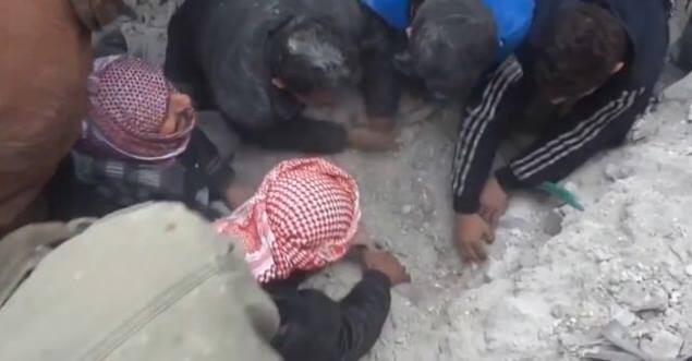 copil salvat siria
