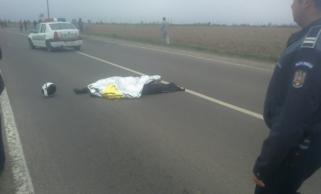 politist decedat motocicleta