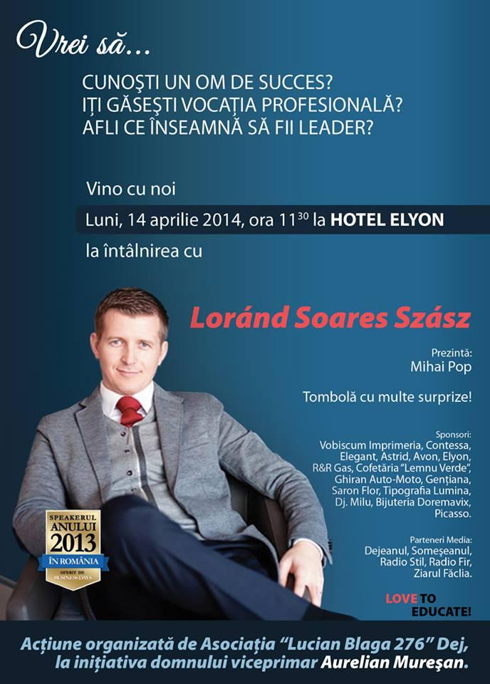Lorand Soares Szasz vine la Dej. Impresii ale cursanţilor săi
