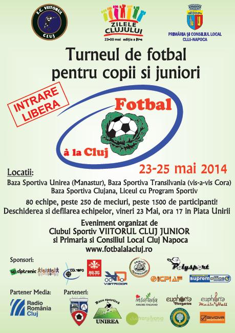 Afis Fotbal a la Cluj