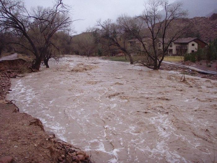 rau inundat