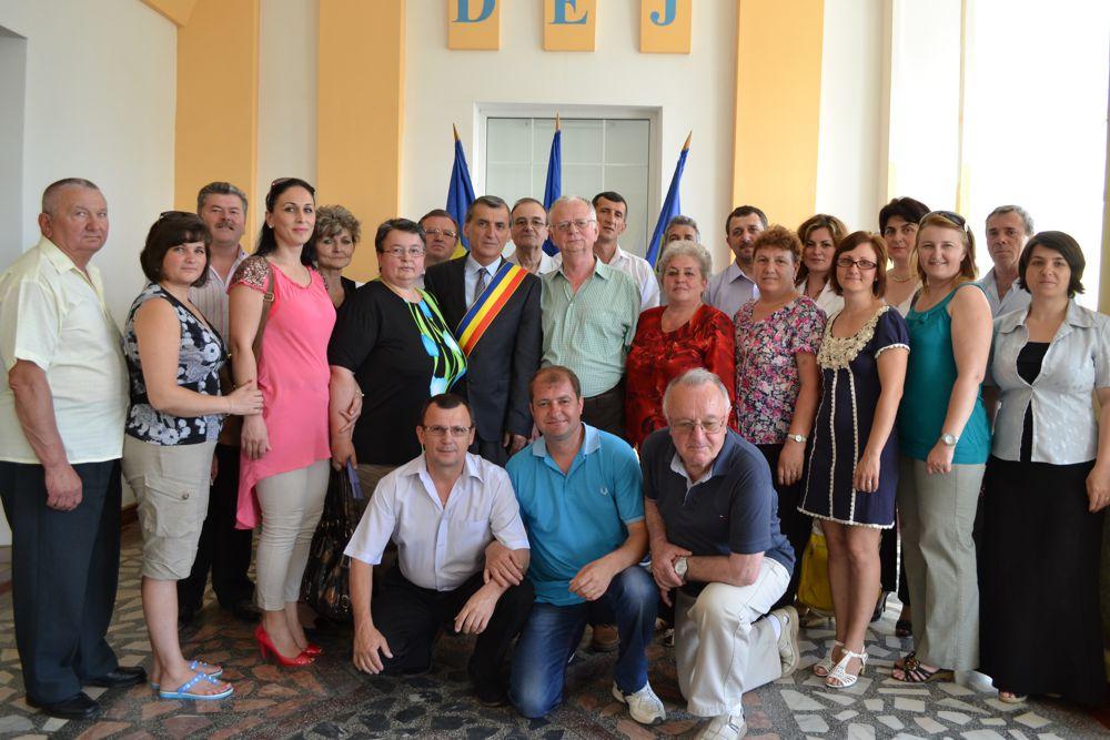 Corala Armonia felicitata de primarul Dejului (1)