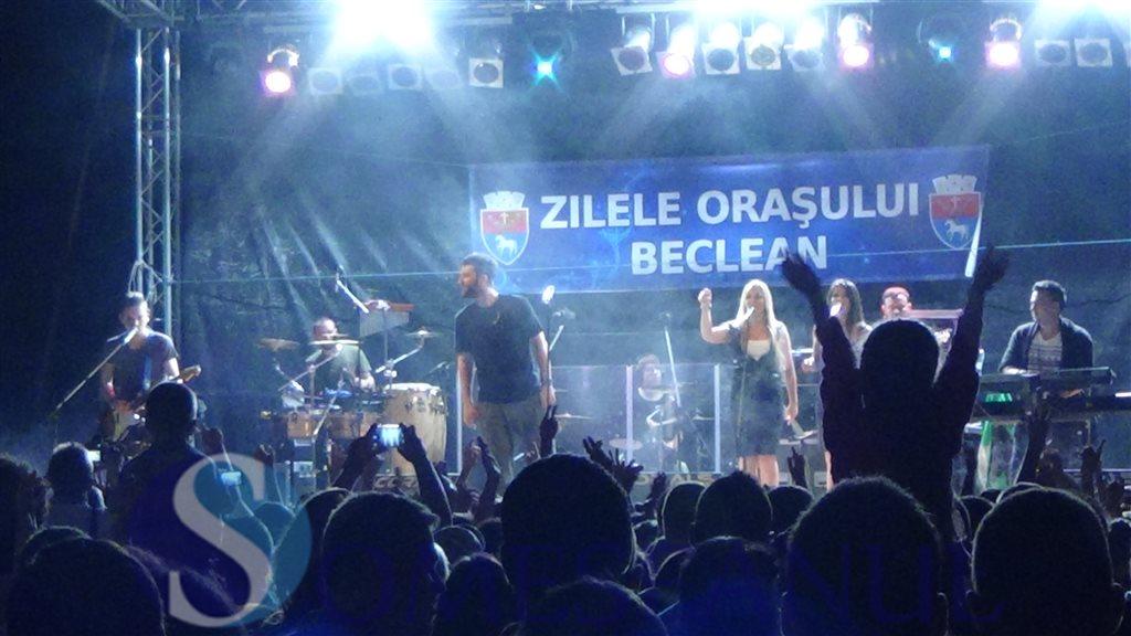 Concertul Smiley și focul de artificii au încheiat zilele orașului Beclean – FOTO/VIDEO