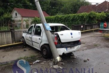 ULTIMĂ ORĂ: Taximetrist implicat în accident la Dej – FOTO/VIDEO