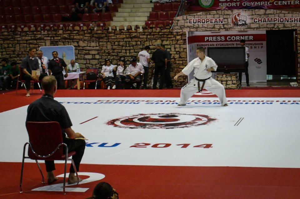 cristian boldut vicecampion european karate kyokushin