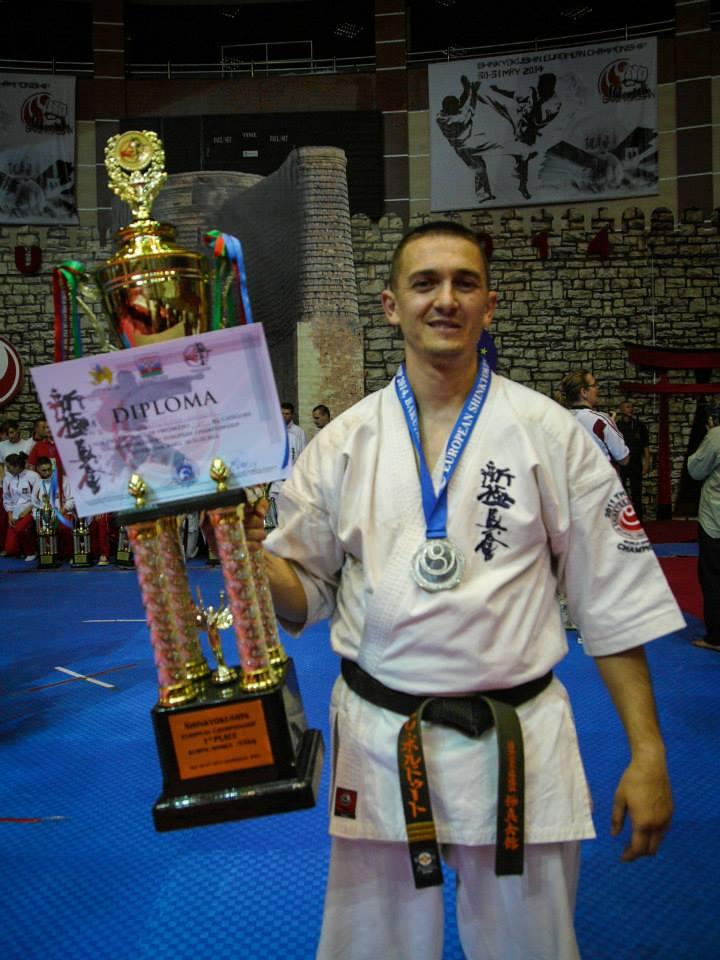 cristian boldut vicecampion european karate