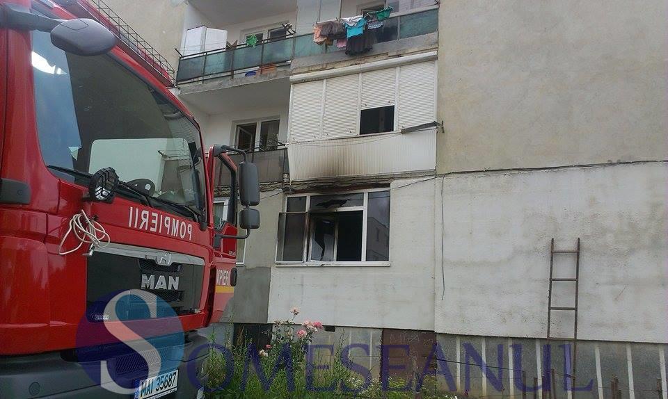 incendiu dej pompierii-3