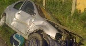 someseanul-accident bontida -masina rasturnata in sant