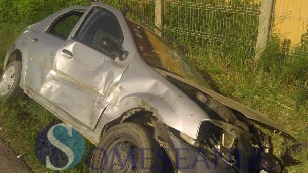 someseanul-accident bontida -masina rasturnata in sant