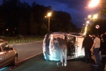 Taximetru implicat în accident la Cluj – FOTO