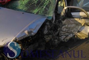Accident cu o victimă la Șimleu Silvaniei. O mașină s-a răsturnat în afara șoselei