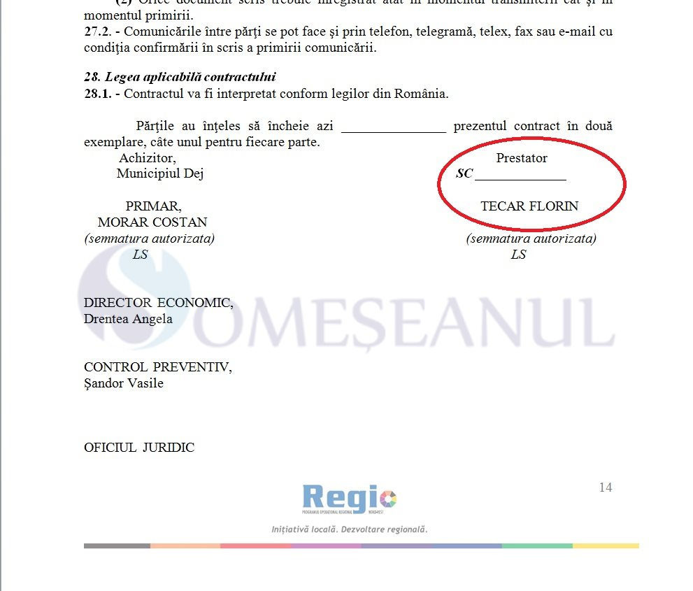 someseanul-contract licitatie drumuri dej tecar