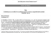 Anunț de presă: Achiziționarea serviciilor de consultanță pentru creșterea competitivității societății Rombela Invest