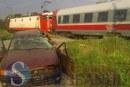 Maşină lovită de tren, în Poiana Ilvei