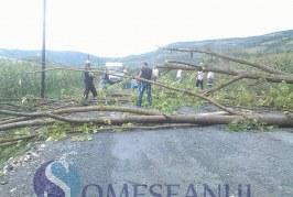 Cluj: Nu mai există drumuri județene blocate după furtuna de duminică