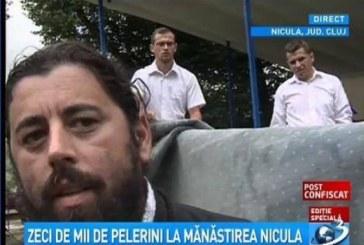 Jurnaliștii Antena 3 alungați de la Nicula – VIDEO