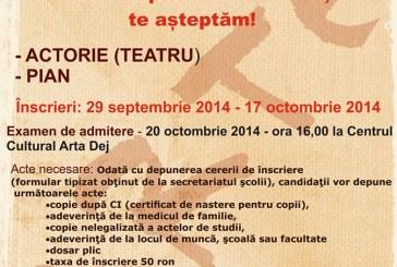 Școala de Arte Cluj, Filiala Dej, face înscrieri la cursuri de teatru și pian