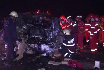 Accident teribil la Gilău, în dreptul ieșirii de pe Autostrada Transilvania