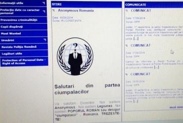Hackerii de la Anonymous au spart site-ul Poliției Române