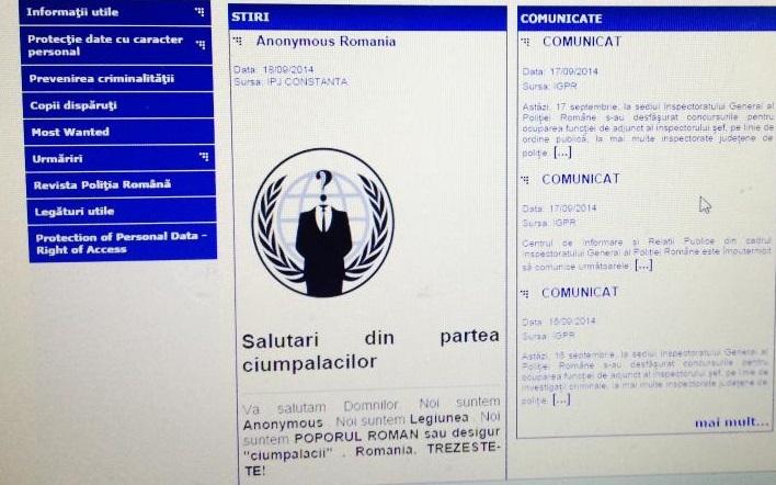 atac hackeri site politia romana