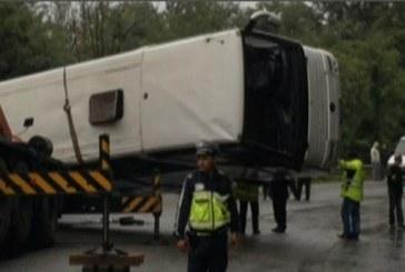 Accident grav în Bulgaria. Un autocar cu turiști români  s-a răsturnat – FOTO