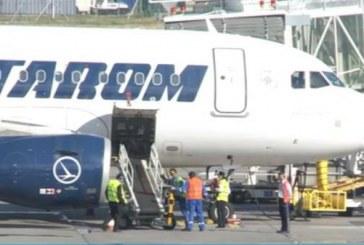 Un avion TAROM care zbura de la Budapesta a luat foc în aer