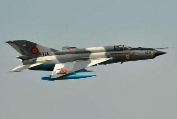 Accident aviatic în apropiere de Mihail Kogălniceanu. O aeronavă MiG 21 LanceR a Forțelor Aeriene Române s-a prăbușit