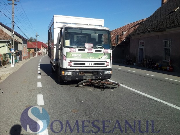 accident Reteag scuter in camion (4)