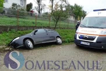 Accident în Prundu Bârgăului. A ajuns cu mașina în șanț din cauza vitezei prea mari