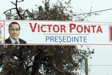 Afișele cu Ponta din Maramureș trebuie îndepărtate