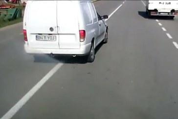 Depășiri periculoase pe DN1C Dej – Cluj-Napoca – VIDEO