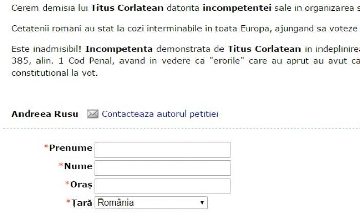 Petiție online pentru demisia ministrului Titus Corlățean