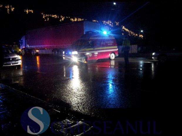 accident Reteag pieton lovit de masina (2)